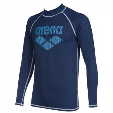 Футболка для плавания мужская с длинным рукавом Arena Rash