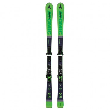 Лыжи горные Atomic Redster X5 Green + Ft 10 Gw black-green