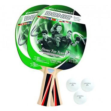 Купить набор для настольного тенниса Donic Schildkrot Top Team 400 (2рак+3шар)