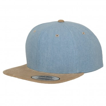 Кепка Flexfit Chambray-Suede Snapback