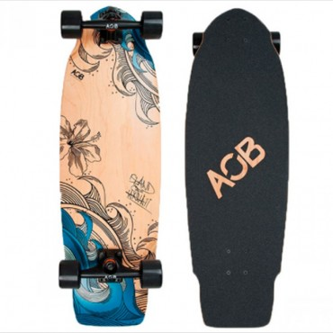 Скейт Fun4U Longboard Blue Wood complete
