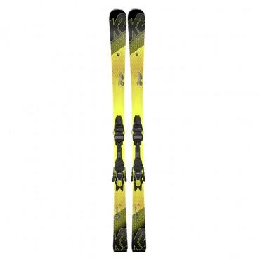 Лыжи горные K2 Charger M3 11 TCX Light Quikclik black-yellow