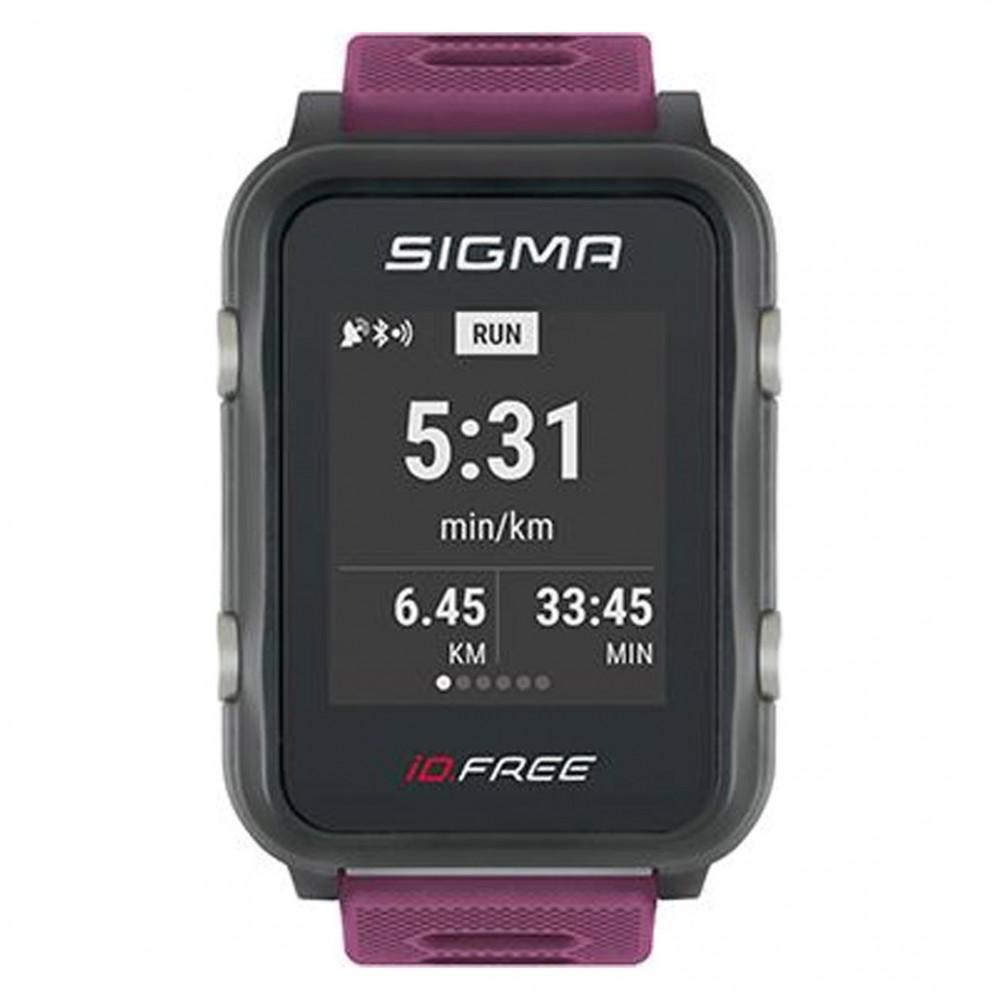 Часы с пульсометром Sigma Id. Free plum