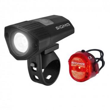 Комплект фонарей Sigma Buster 100 HL / Nugget II Flash usb k-set