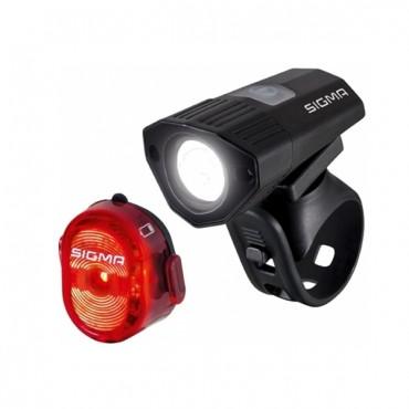 Комплект фонарей Sigma Buster 100 HL Nugget II Flash (usb k-set)