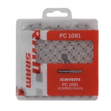 Цепь Sram PC 1091 - hollow pin 114 links power lock 10-speed