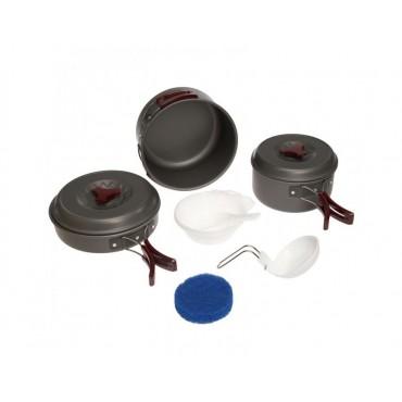 Купить набор посуды (анодированный алюминий) Tramp