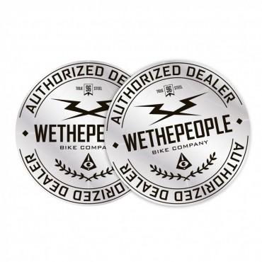 Комплект наклеек Wethepeople Authorized Dealer (2шт)