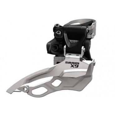 Переключатель передний Sram X9 3X10 High Clamp 34.9 Dual Pull