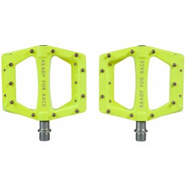 Педали Cube Flat Race Neon Yellow