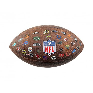 Мяч американского футбола Wilson NFL Off Throwback 32 Team Logo